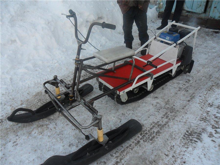 Лыжный модуль для мотособаки для двс спереди
